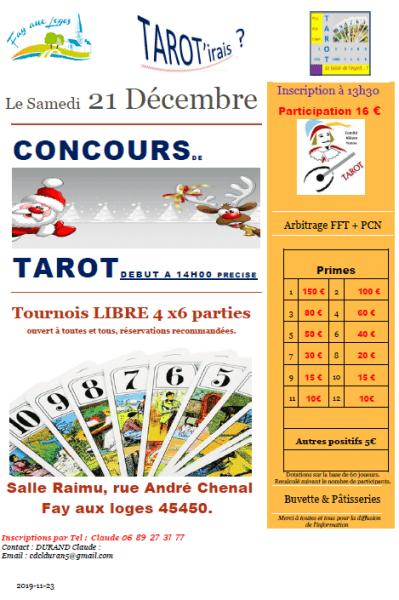 image de Concours et jeux de cartes du Club de Tarot