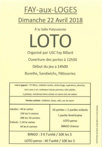 image de Loto organisé par le Club de Billard