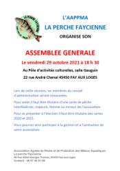 Assemblée Générale de La Perche Faycienne
