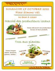 Marché des producteurs locaux et Troc aux plantes - Oct. 2021