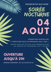 PISCINE : SOIRÉE NOCTURNE ! 08-2021