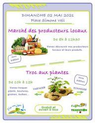 Marché des producteurs locaux et Troc aux plantes - mai 2021