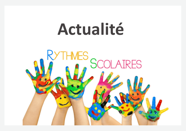 Rythme scolaire actualit